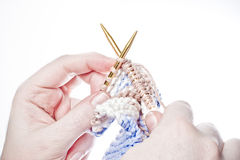 A Woman Knitting Royalty Free Stock Photo