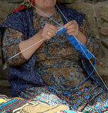 Woman knitting Royalty Free Stock Photography