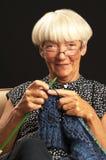 Woman Knitting Stock Image