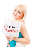 That woman know how to be beautiful Royalty Free Stock Photos