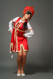 Woman in a kokoshnik Stock Photo