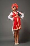 Woman in a kokoshnik Royalty Free Stock Image