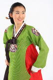Woman in Korean Dress Stock Photo