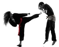 Free Woman Kung Fu Pencak Silat Isolated Stock Photography - 129377872