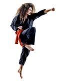 Woman Kung Fu Pencak Silat isolated Stock Image