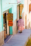 Woman in La Paz, Bolivia Royalty Free Stock Photos