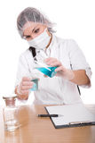 Woman in lab Royalty Free Stock Photo