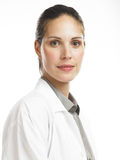 Woman with lab coat 2. Health professional woamn in a lab coat Royalty Free Stock Photos