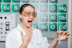 Woman in the lab Royalty Free Stock Images