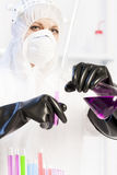Woman in laboratory Royalty Free Stock Image