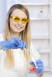 Woman in laboratory Royalty Free Stock Photos