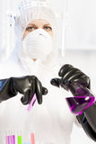 Woman in laboratory Royalty Free Stock Photo