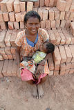 Woman Labour in India Stock Photo