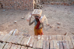 Woman Labour in India Royalty Free Stock Photos