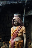 Woman Labour In Indian Brick-field Royalty Free Stock Photography