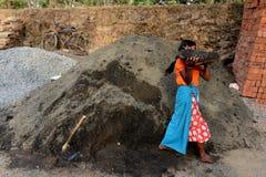 Woman Labour stock image