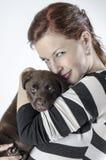 Woman with labrador Royalty Free Stock Photos
