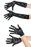 Woman lace gloves Royalty Free Stock Image