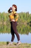Woman at the lake Stock Photo