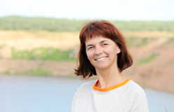Woman at the lake Stock Photos