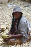 Woman, Lake Titicaca Royalty Free Stock Photography