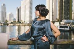 Woman lakeside Royalty Free Stock Photos