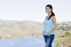 Woman in Landscape Stock Photos