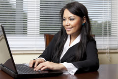 Woman with lapop Royalty Free Stock Photo