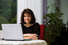 Woman with laptop 1 Stock Photography