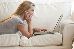 Woman on Laptop Royalty Free Stock Image
