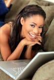 Woman on laptop Royalty Free Stock Photo