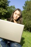 Woman with a Laptop Royalty Free Stock Photos