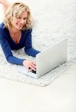 Woman with a laptop Royalty Free Stock Images