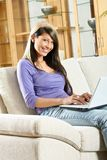 Woman with a laptop Royalty Free Stock Image