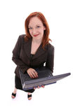 Woman with laptop. Professional woman from above series: Laptop computing Royalty Free Stock Photography