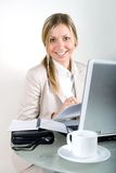 Woman On A Laptop Stock Image