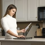 Woman with laptop. Stock Images