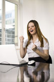 Successful woman in office Royalty Free Stock Images