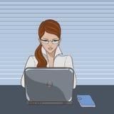 Woman_laptop 库存照片
