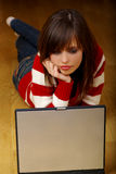 Woman with laptop Royalty Free Stock Photo