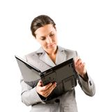 Woman with laptop Royalty Free Stock Photos