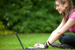 Woman on a laptop Stock Photos
