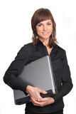Woman with a laptop Stock Photos