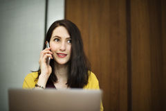 Woman Laptop Browsing Searching Social Networking Technology Con Stock Photos