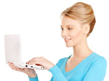 Woman with laptop computer Royalty Free Stock Photo