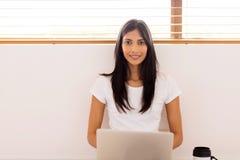 Woman laptop computer Stock Photo