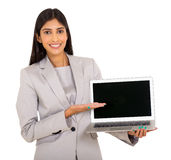 Woman laptop computer Stock Image