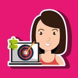 Woman laptop creative innovation Stock Photography