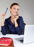 Woman with a laptop Stock Photos