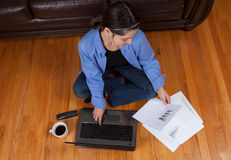 Woman with a laptop Royalty Free Stock Photo